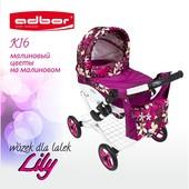 Кукольная коляска Lily tm Adbor, 12 цветов