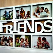 Мультирамка Friends на 6 фотографий белая №38