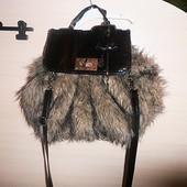 Шикарная меховая сумка new look! дорогая и эксклюзивная!