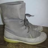 Кожаные демисезонные ботинки Ecco Gore Tex р.39