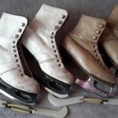 """Коньки для девочки """"Спорт"""" с чехлами ,две пары в комплекте,"""