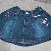 Джинсовая юбка  Marks&Spencer на 1,5-2 года