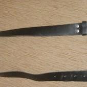Пояс ремень для джинс или брюк натуральная кожа черный 63-74см