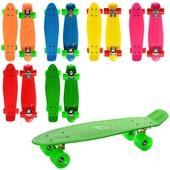 Скейт пенни MS0848, 55 14,5см пластик антискол , алюм. подвеска, колеса Пу