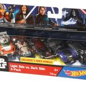 Коллекционный набор из 5 машинок Hot wheels Star wars force awakens Mattel