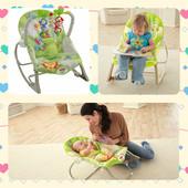 Детское массажное кресло качалка Fisher Price