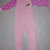 на 7-8 лет, р. 116-122  мягенький флисовый слип пижама Primark