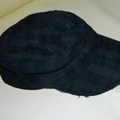 Женская черная утепленная кепка на ОГ 54-56 см.