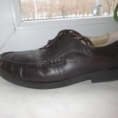 Кожаные итальянские туфли Luca Mancini 42 р