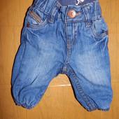 эксклюзив! 0-1 мес., джинсы на подкладке, джинсики H&M