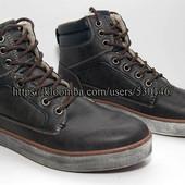 Демисезонные мужские высокие утепленные ботинки, р.42