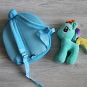 Рюкзак My little pony со съемной игрушкой 2 вида