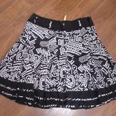 Фирменная легкая юбка на 50-52 размер хлопок