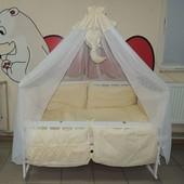 Детское постельное белье в кроватку бежевое Bonna Классик