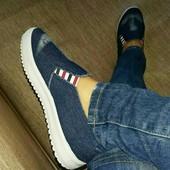 джинсовые макасины