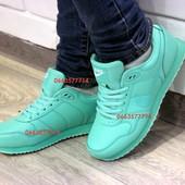 Крутые Мятные женские кроссовки в стиле Nike! Стильно, качественно! Шикарная цена!