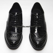 Стильные лаковые женские туфли на шнурках Blink, р. 37