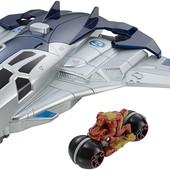 Hot Wheels Самолет Мстителей с мотоциклом marvel avengers age of ultron