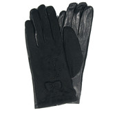 Женские кашемировые перчатки с кожаной ладошкой с плюшевой подкладкой