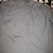 Рубашка мужская,полиэстер+вискоза,р.45 по вороту.