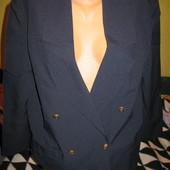 Пиджак двубортный, тёмно-синий,полиэстер,р.48-50.