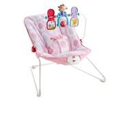 Fisher-Price Детский шезлонг кресло-качалка розовый baby´s bouncer - pink ellipse