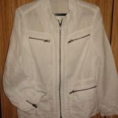 красивый белый пиджак из 100 % льна от Globus,p.42