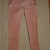 """Грязно розовые """" вареные"""" брюки - бедровки Esprit  Германия. 32/34 р."""