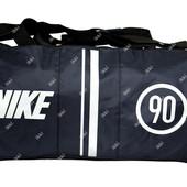 Спортивная сумка бочка синего цвета в стиле Nike (903)