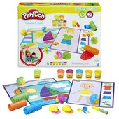 Набор Play-Doh Shape and Learn textures and tools
