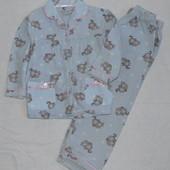 Байковая пижамка. 1,5-3 г. Теплая, Хлопковая, утепленная, трикотажная, трикотаж, фирменная, пижама