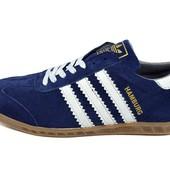Акция!!!Кроссовки Adidas hamburg trainers blue (реплика)