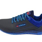 Подростковые кроссовки Adidas trainer lea blue (реплика)