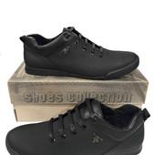 Туфли в стиле Комфорт модель sky чёрная кожа флотар