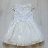 Нарядное платье для принцессы. Юбка на подкладке, умеренно-пышная. Y.D. Размер 1.5-2 года
