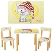 Столик 501-17 деревянный, 60-40см, 2 стульчика