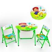 Столик с двумя стульчиками DT 22 для ребенка