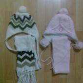 Шапка + шарф 2-4 года