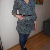 М мини L брендовая легкая туника-блузка