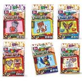 Набор для творчества Baby Paillette глиттер пайетка pg-01-01,02,03,04,05,06 Данко Тойс