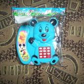 телефон с трубкой на батарейках в ассортименте