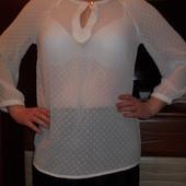 Новая белая блузка р.м