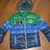 Фирменная от George теплая деми куртка парка  мальчику 7-8 лет
