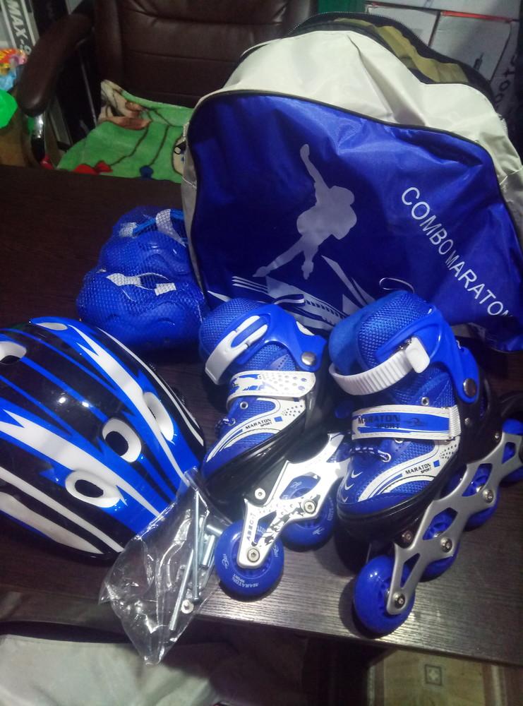 Набор ролики maraton шлем защита сумка фото №11
