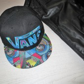 Кепка Vans off the wall abstract snapback котон