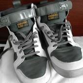 Шикарные высокие кожаные кроссовки от gstar raw оригинал