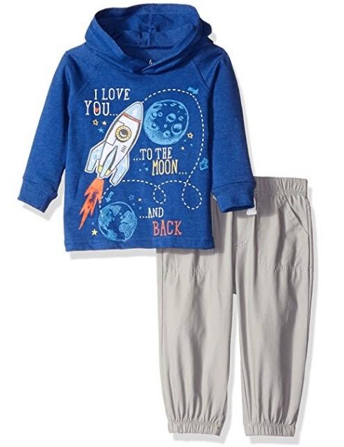 Детский комплект для мальчика ракета синий р.24 мес фото №1