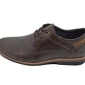 Мужские туфли Multi Shoes ml коричневые