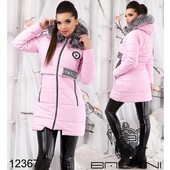 Куртка длинная с мехом на синтепоне, р. 42,44,46, три цвета, код bln-12367