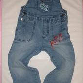 джинсовый комбинезон на 3-4 года